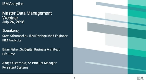 Thumbnail for entry The Heart of Digital Transformation: Master Data Management webinar