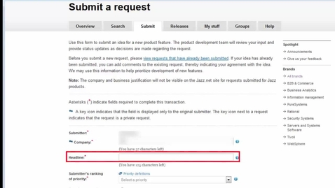 How to submit a Request for Enhancement
