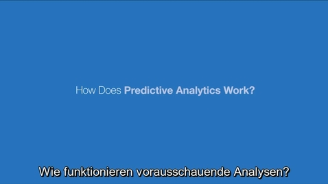 Thumbnail for entry How Does Predictive Analytics Work?