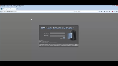 Thumbnail for entry Copy Services Manager (CSM) Setup Demo