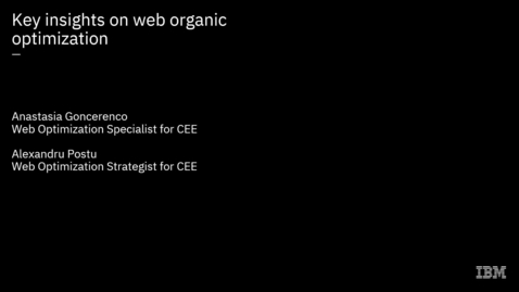 Thumbnail for entry Key insights on web optimization