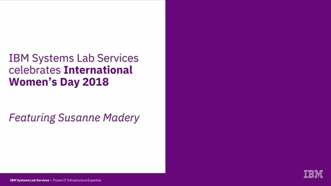 Thumbnail for entry Susanne Madery: Celebrating International Women's Day 2018