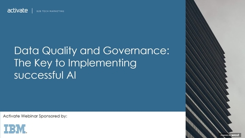 Thumbnail for entry Data Quality and Governance: The Key to Implementing successful AI