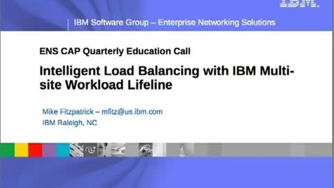 Thumbnail for entry Make your business more resilient with IBM Multi-site Workload Lifeline