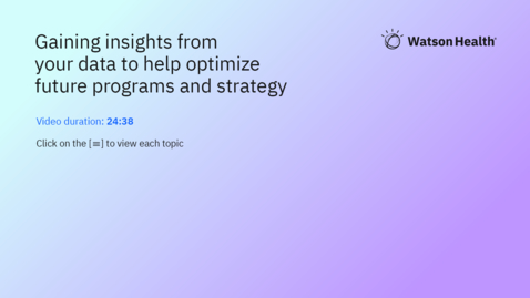 Thumbnail for entry Gaining insights from your data to help optimize future programs and strategy