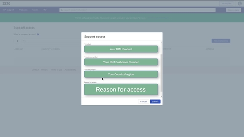 Thumbnail for entry Requesting access to your company's IBM Support account