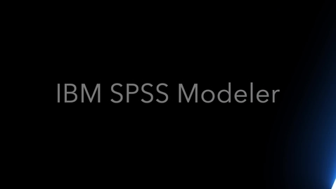 Thumbnail for entry IBM SPSS Modeler 18.2 and The New User Interface