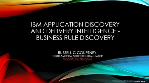 Thumbnail for entry X Marks the Spot -Finding the Business Treasures in your Applications Webcast