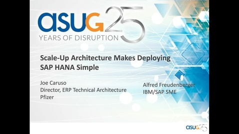 Thumbnail for entry Scale-up architecture makes deploying SAP HANA simple Webcast.