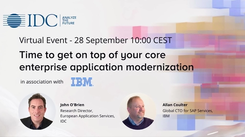 Thumbnail for entry Time to get on top of your core enterprise application modernization