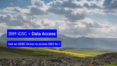 Thumbnail for entry Get an ODBC driver to access DB2 for i
