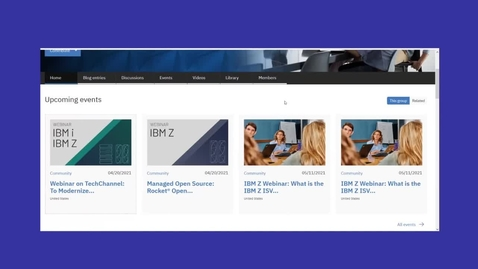 Thumbnail for entry IBM Z ISV Ecosystem User Group Tour