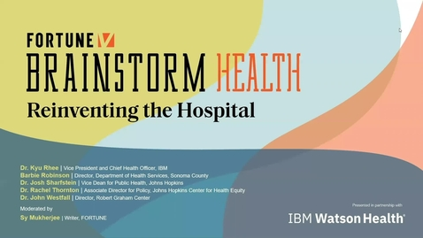 Thumbnail for entry Reinventing the hospital: Community health and equity