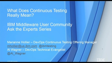Thumbnail for entry What Does Continuous Testing Really Mean?