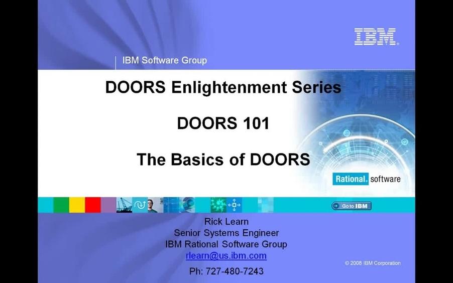 IBM Rational DOORS 101 Basics