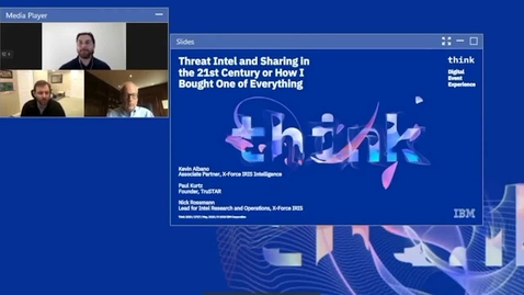 Thumbnail for entry Threat Intelligence and Sharing in the 21st Century