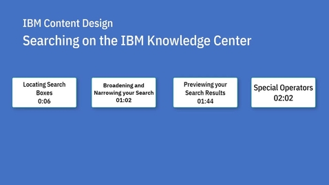 Thumbnail for entry Searching on the Knowledge Center