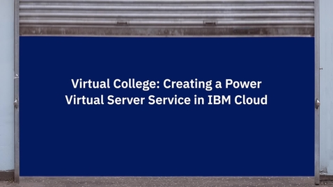Thumbnail for entry IBM PVS Overview Demo