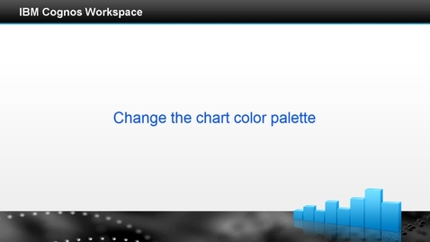 Thumbnail for entry Change the chart color palette