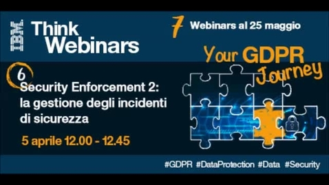 Thumbnail for entry Security Enforcement 2: la gestione degli incidenti di sicurezza