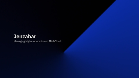 Thumbnail for entry Managing higher education on IBM Cloud