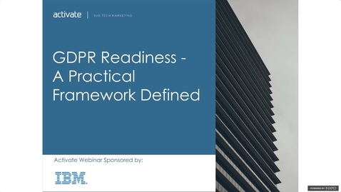 Thumbnail for entry GDPR Readiness: A Practical Framework Defined