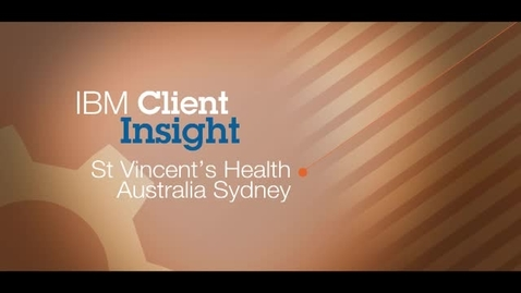 Thumbnail for entry St. Vincent's Health Australia Sydney resolves job tickets 75 percent faster