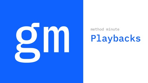 Thumbnail for entry Method Minute: What is a playback?