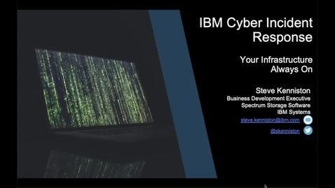 Thumbnail for entry IBM Cyber Incident Response Service
