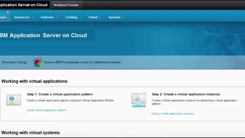 Thumbnail for entry IBM Application Server on Cloud Quick Demo