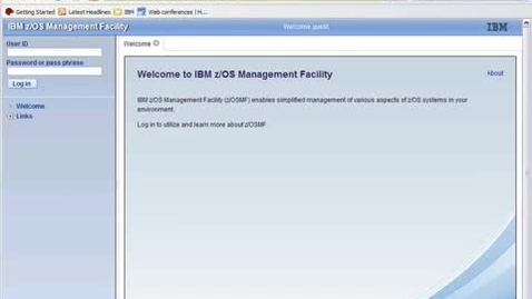 Thumbnail for entry Introducing the new face of z_OS - the IBM z_OS Management Facility