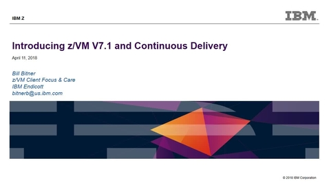 Thumbnail for entry z/VM V7.1 Introduction (video)
