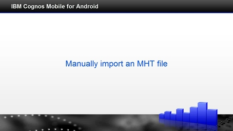 Thumbnail for entry Manually import an mht file