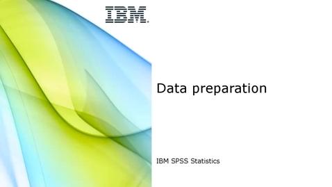 Thumbnail for entry Data Preparation