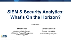 Thumbnail for entry SIEM and Security Analytics:  What's on the horizon?