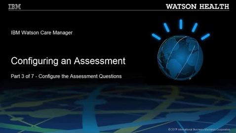 Thumbnail for entry Configuring an assessment part 3 of 7: Configuring the assessment questions