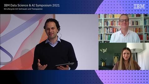 Thumbnail for entry Ein Gespräch mit ... einer digitalen Gipfelstürmer: Filiz Elmas (DIN) und Dr. Wolfgang Hildesheim (IBM)