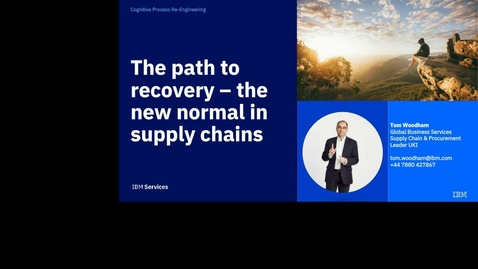 Thumbnail for entry La voie de la reprise : la nouvelle norme dans la supply chain