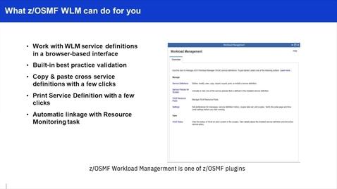 Thumbnail for entry z/OSMF WLM Tutorial