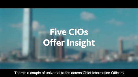 Thumbnail for entry Pioneering Leadership: The Economist Intelligence Unit interviews 5 CIOs (full video - English captioning)