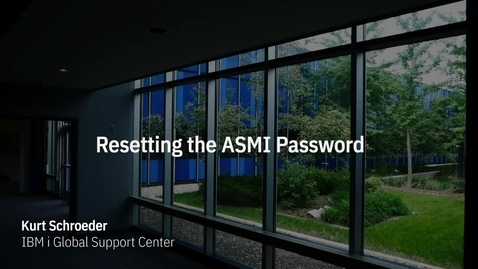 Thumbnail for entry Resetting your ASMI Password