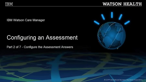 Thumbnail for entry Configuring an assessment part 2 of 7: Configuring the assessment answers