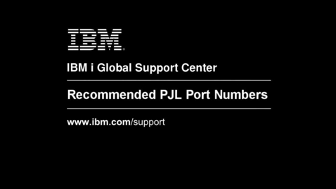 Thumbnail for entry Recommended PJL Port Numbers