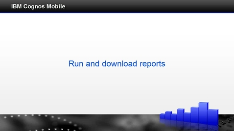 Thumbnail for entry Run and download reports