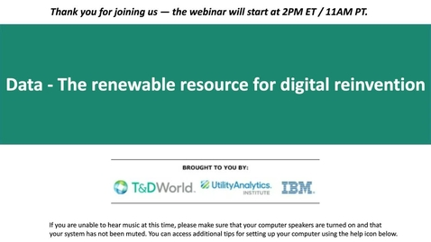 Thumbnail for entry Data - The renewable resource for digital reinvention