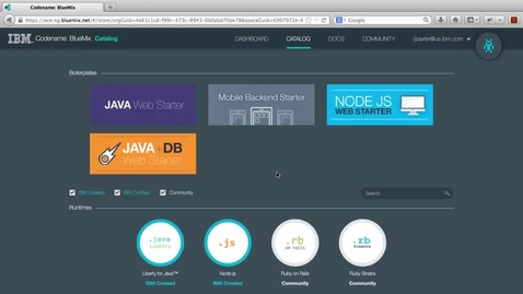 Thumbnail for entry DevOps Services For BlueMix