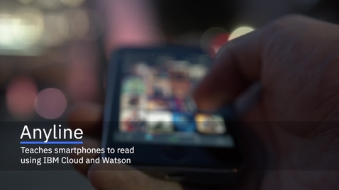Thumbnail for entry Anyline teaches smartphones to read using IBM Cloud and Watson