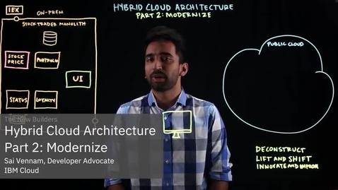 Thumbnail for entry Hybrid Cloud Architecture Part 2: Modernize
