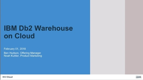 Thumbnail for entry Flex Performance: how to scale on demand with Db2 Warehouse on Cloud