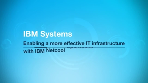 Thumbnail for entry An IBM Systems team improves network event correlation by 75 percent